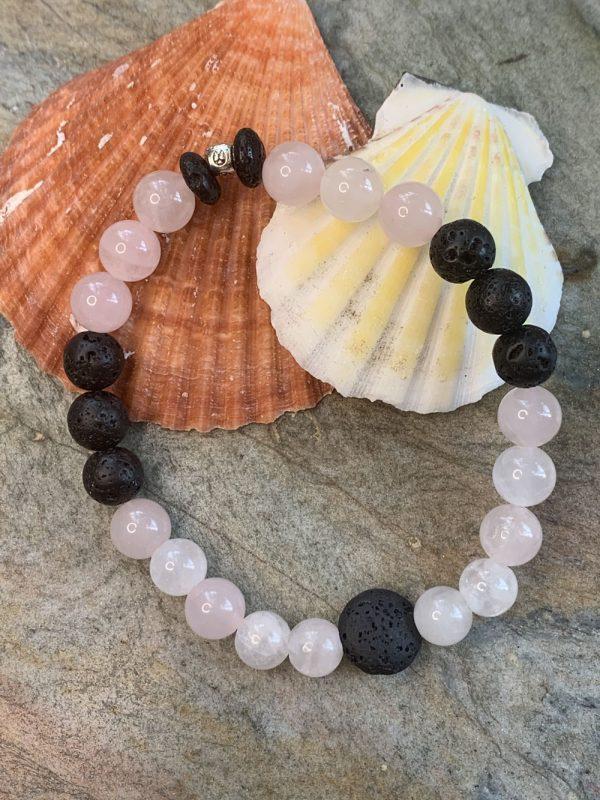 Rose Quartz Aromatherapy Bracelet